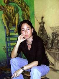 Alicia de la Campa Pak. Destacada pintora cubana.
