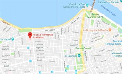 Hospital Ameijeiras mapa