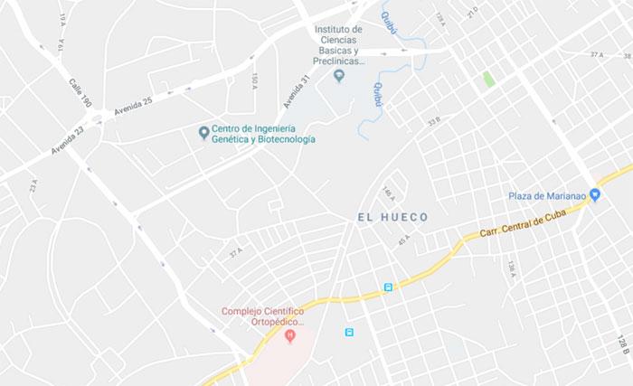 mapa Hospital Frank País