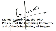 Sing of President cuban Surgery 2016 copia
