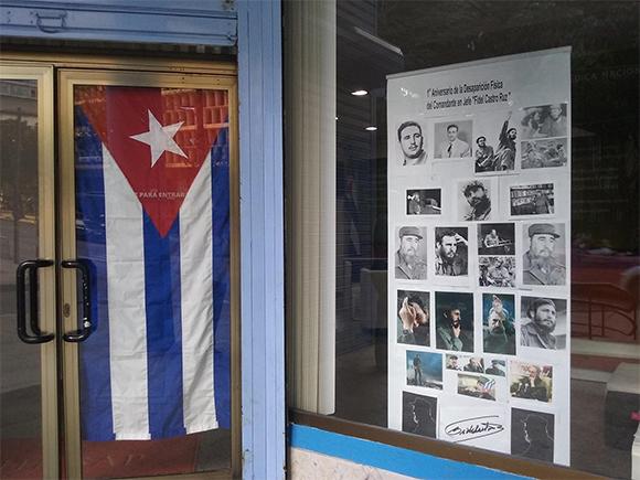 Primer Aniversario de la Desaparición Física de nuestro Comandante en Jefe. Exposición fotográfica en homenaje a Fidel con variados retratos que expresaban la versatilidad de su figura. 2017