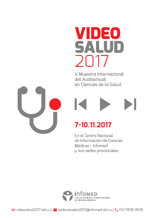 Poster de la Segunda Jornada de VideoSalud. 2017